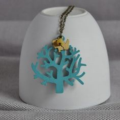 Shop our curated collection of gifts at Not On The High Street. Discover of gifts for all occasions from of unique and personalised products by the UK's best small creative businesses. Wooden Necklace, Tree Necklace, Wooden Tree, How To Make Notes, Brass Chain, Handmade Wooden, Beaded Flowers, Czech Glass, Antique Brass