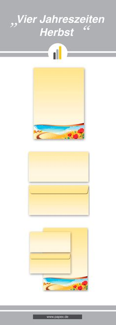 Briefpapier / Motivpapier VIER JAHRESZEITEN HERBST mit passenden Briefumschlägen