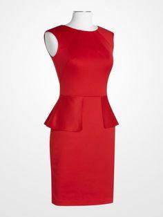 Nine West Red Peplum Dress