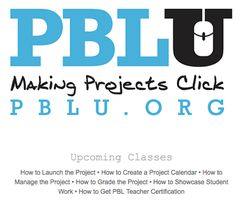 Online classes to teach you how to use PBL learning! PP: PBLU is an online social network of educators who continually learn and share how to do Project Based Learning. Problem Based Learning, Inquiry Based Learning, Project Based Learning, Learning Resources, Teacher Resources, Early Learning, Math Projects, Classroom Projects, Classroom Ideas