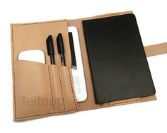 Vegetable Tanned Leather Moleskine Cover Leather door feltapp