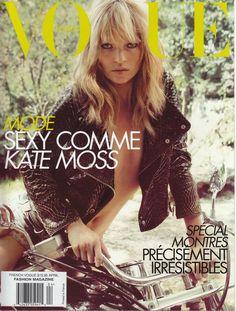Cover with Kate Moss April 2008 of FR based magazine Vogue Paris from Condé Nast Publications including details. Vogue Magazine Covers, Fashion Magazine Cover, Fashion Cover, Vogue Covers, Vogue Paris, Moss Fashion, Modern Fashion, Fashion Fashion, Fashion News