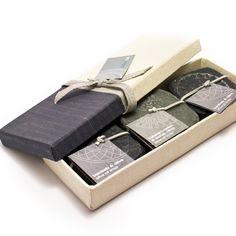 Rain handmade olive oil soaps in a box