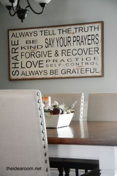 Between You & Me Signs Giveaway | theidearoom.net