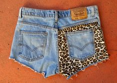 DIY leopard shorts