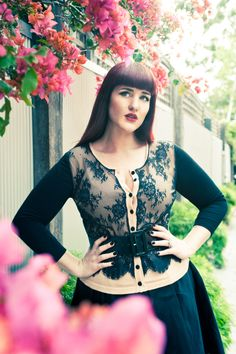 I crave this cardigan - could be refashioned from camel cardigan, lace and black knit
