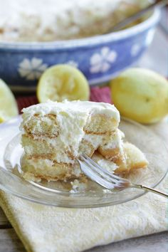 Lemon Tiramisu - Living on Cookies