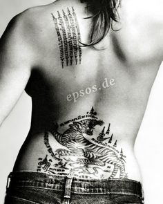 Angelina Jolie Tattoos Picture