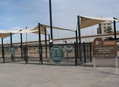 Entrance Gates at Railyard Dog Park