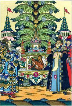 "Борис Зворыкин. Иллюстрация к сказке А. С. Пушкина  ""Сказка о царе Салтане"""