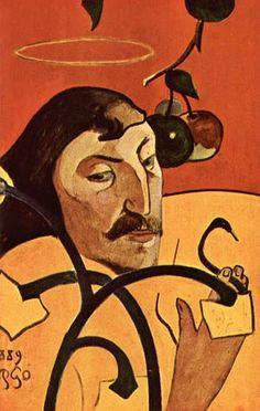 Auto retrato de Paul Gauguin 1889 - National Gallery of Art -  Washington  Auto-retratos constituiuram um elemento significativo da produção de Gauguin, particularmente em 1888 e 1889.   O interesse de Gauguin foi motivado em parte pela série de retratos de Vincent van Gogh de 1888, incluindo La Mousmé, que Gauguin conhecia através de sua correspondência com Van Gogh e o seu irmão Theo.   Além disso, Van Gogh esperava estabelecer uma colônia de artistas, no sul, que poderia ser análoga ao…