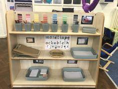 Eyfs self resource writing station Writing Area, Writing Station, Writing Table, Reception Class, Reception Ideas, Writing Center Kindergarten, High Scope, Reggio Inspired Classrooms, Maths Area