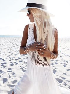 Photography – Bobby Bense Model/Styling – Helen Janneson Bense Location – Sorrento Beach, Western Australia  Outfit Details GOLD Necklaces – Cosmic Love 'Breathe…