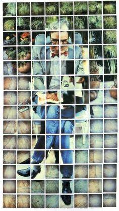David Hockney - Nicholas Wilder Studying Picasso, 1982 composite polaroid, 48 x 26 in. David Hockney Photography, Art Photography, Montage Photography, Wedding Photography, Arte Pop, Photomontage, David Hockney Joiners, Illustration Arte, Pop Art Movement