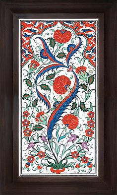 Islamic Tiles, Lotus Art, Tile Panels, Turkish Art, Painting Lessons, Ceramic Design, Tile Art, Boho Decor, Glass Art