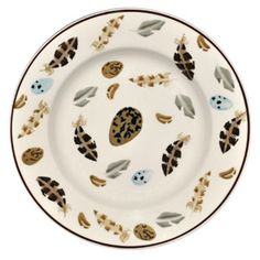 """""""Egg & Feather"""" Egg & Feather 8 1/2"""" Plate at Emma Bridgewater"""