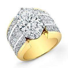 Engagement Ring Set Round Yellow Diamond 36