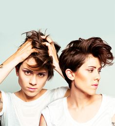 Music - Love Tegan and Sara. Ok I'm just going to pin a bunch of pics of these chicks cuz I just love 'em!