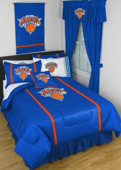 New York Knicks Sidelines Comforter from bedding.com  #NY #knicks #nba