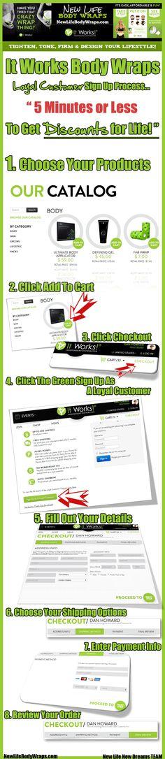 It Works Body Wraps Loyal Customer Sign up www.loseinchesin45.myitworks.com