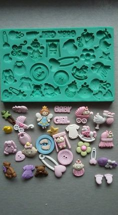 BUTTON BUTTONS #2 Craft Sugarcraft Sculpey Silicone Rubber Mould