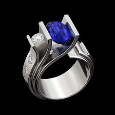 In Fiore sapphire ring features a distinctive purple sapphire set in white gold with accent diamonds; a gemstone blooms forth from petals of gold. Purple Sapphire, Blue Sapphire Rings, Sapphire Jewelry, Garnet Rings, Blue Topaz Ring, Gold Jewellery, Tahitian Pearl Ring, Unique Ring Designs, Jewelry Center