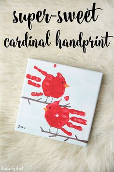 You know Christmas is drawing near when the Hoffs paint our littlest member's feet or hands to make masterpiece Christmas presents for the grandmas! This year, Mr. Hoff found the inspiration and came up with the idea for cardinal handprint artwork. He doesn't really know how Pinterest works, and I'm not really sure where he … #ArtAndCraft