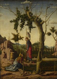 Noli me Tangere // perhaps 1460-1550 // Imitator of Andrea Mantegna // This painting is part of the group: Three Scenes of the Passion of Christ // © The National Gallery,London