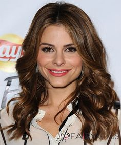 18 Inch Wavy Brown Maria Menounos Full Lace 100% Human Wigs