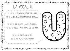 Mi grimorio escolar: CANCIÓN DE LA VOCAL U
