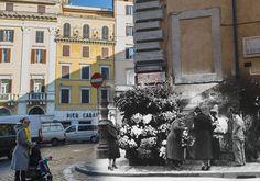 La fioraia di Via di Propaganda #rephotography #roma #rome