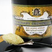 Rosemary Creamed Honey -- A great accompaniment to Beekman 1802 BLAAK Cheese (or any fine cheese), use in poultry and pork dishes or as a sandwich spread.