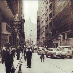 Conselheiro Crispiniano Street in the 60's Sao Paulo - Brazil