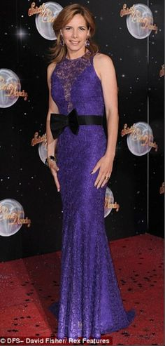 Darcy Bussell in our Guipure lace dress