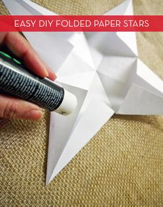 How-to: Simple And Festive DIY Paper Stars