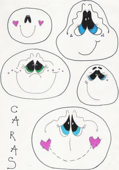 diferentes diseños de dibujos de caras y ojitos infantil - Taringa!