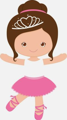Little girl ballet dancer Ballerina Party, Ballerina Cartoon, Ballerina Drawing, Baby Ballerina, Cute Clipart, Girl Clipart, Cute Images, Paper Dolls, Little Girls