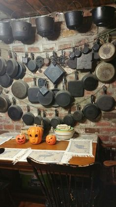 Cast Iron in the dining room all pre 1960