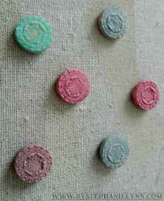 Under The Table and Dreaming: Make Your Own Embossed Clay Magnets {& a PSA Essentials Giveaway Reminder}