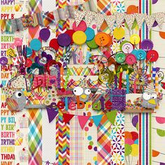 Includes 12 patterned papers and 40+ party themed elements.