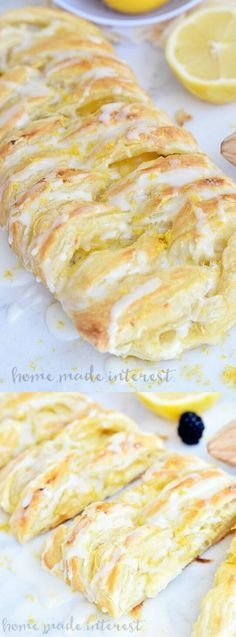 This flaky Lemon Cream Cheese Danish recipe from Home. Made. Interest. is an easy breakfast or brunch recipe made with puff pastry and filled with a creamy, sweet and tart filling.
