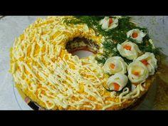 Салат Купеческий, цыганка готовит. Мясной салат. Gipsy cuisine. - YouTube
