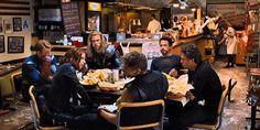 In The Avengers (2012) post-credits scene at the Shawarma stall, Cap (Chris Evans) is scene resting his face on his hand and not eating anything. This is because the scene was shot too late (after the premier) and Evans- who was working on Snowpiercer (2013)- had grown a beard.