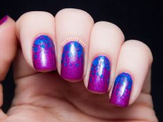 Formula X for Sephora Cobalt Blue Glitter Gradient | Chalkboard Nails