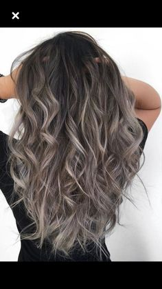 Stylish Hair Color Ideas In This Year Ash Gray Hair Color, Hair Color And Cut, Hair Colour, Colour Colour, Balayage Hair Grey, Grey Ombre Hair, Bayalage, Brown To Grey Hair, Ashy Brown Hair