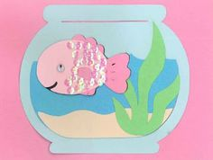 Cricut Create a Critter  used sequins on fish to make it look like scales!