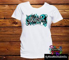 Cervical Cancer Hope Garden Butterfly Shirts