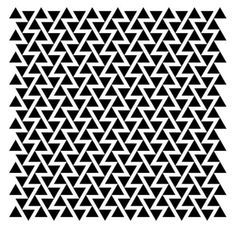 Graphic black and white triangle print