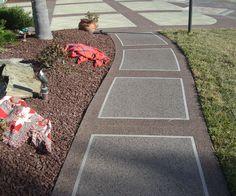 18 Painting Driveways Sidewalks Ideas Painting Concrete Backyard Driveway Design