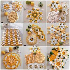 Huzur Sokağı (Yaşama Değer Hobiler) Crochet Crafts, Crochet Projects, Crochet Stitches, Knit Crochet, Crochet Bikini Pattern, Crochet Flowers, Lana, Advent Calendar, Projects To Try